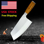 """8"""" Chinese Butcher Knife Stainless Steel Meat Cleaver Full Tang Kitchen Knives"""