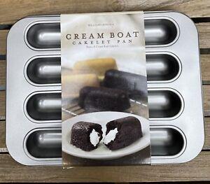 NEW -- Rare --  Williams Sonoma Cream Boat Cakelet Pan Twinkies - Nonstick