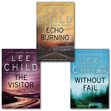 Lee Child Collection Jack Reacher 3 Books Set, (The Visitor, Echo Burning & With