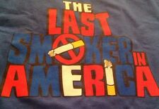 NWOT The Last Smoker In America 2012 Off Broadway Theatre T Shirt Size Large