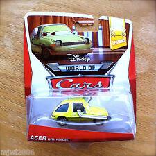Disney World of Cars ACER with HEADSET 2014 NEW LEMONS diecast 1/8 Pacer Pixar