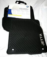 2005.5 to 2010 VW Jetta (MK5) Rubber Floor Mats - FACTORY OEM -OVAL FLOOR CLIPS