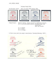 GB 1971 POSTAL STRIKE: EVESHAM LOCAL POST STAMPS + COVER