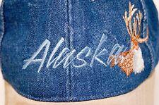 Alaska men's cap hat denim blue adjustable