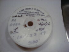 WR-63 #22 PTFE Teflon insulated wire, stranded, silver plated copper 450 ft NOS
