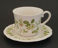 Ironstone Petite Flora Cup Saucer Set 4009 Made in Japan Vintage Dinnerware