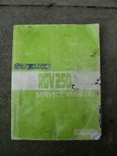 SUZUKI RGV250 K,L,M,N,VJ21,VJ22 1989-1992 FACTORY WORKSHOP MANUAL
