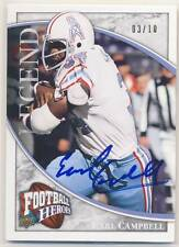 EARL CAMPBELL 2009 Upper Deck Football Heroes Legendary AUTO 03/10 OILERS HOF *