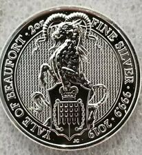 2019 Queen's Beast the Yale of Beaufort 2 oz .9999 silver coin 5 pound Brexit
