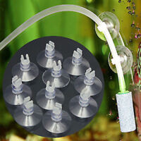 10* Aquarium Fish Tank Suction Cup Suckers Holders For Air Line Tube Hose Pu YAN