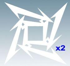 "METALLICA ""STAR"" x2 Music Band Logo - Vinyl Decal Sticker For Car, Laptop, etc.."