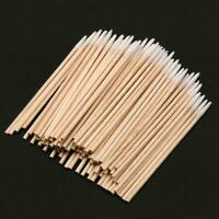 Cotton Swabs Applicator Permanent Makeup Eyebrow Tattoo Supplies Wood_Handl K7J6
