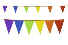 Multi Colour Bunting 10 Metres 6 Colours Rainbow Flags Party W Orange String 3 Packs (30 Metres) Product Code M1004