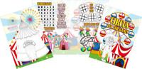 Pack of 12 - Circus Fun and Games Activity Sheets - Party Bag Books Fillers