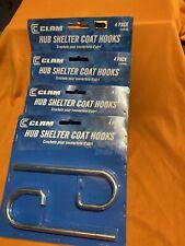 Clam Hub Shelter Coat Hooks 4 Packs of 4 Hooks 16 Total! Brand New Fast Shipping