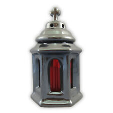 B352 Keramik Grablicht, Laterne, Grabschmuck Grableuchte,Grab Licht Glas 24cm