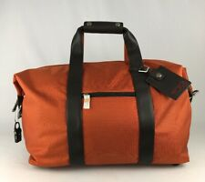 Tumi Alpha Small Soft Travel Satchel Weekend Duffel Gym Bag Orange 22149