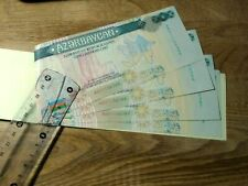 AZERBAIJAN PRIVATIZATION SHARE CHECK BOOK COUPONS VOUCHER 200 manat ex USSR RARE