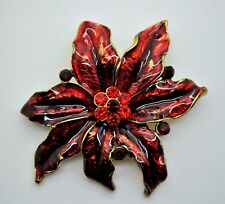 Flower Style Brooches  Res &Garnet mix color high-quality Bouquet Jewelry #3-55