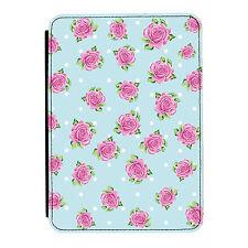 Rosa Lunares Rosa Floral Kindle Paperwhite Toque PU Funda Libro de Piel