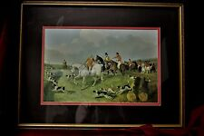 "J.F Herring, Snr  Print ""Breaking Cover,"" Signed, Dated, Matted and Framed"