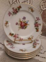 """Set of 5 Harmony House DRESDANIA 6-1/4"""" Bread Plates PERFECT CNDTN! LOVELY!"""