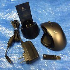 Logitech MX Revolution Wireless Ergonomic Laser Mouse + USB Receiver & Charger