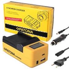 PATONA LCD USB Ladegerät für Akku Panasonic DMW-BLC12 / Leica BP-DC12 Charger