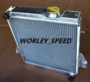Aluminum Radiator For Aftermarket Triumph TR6 1969-1974/TR250 1967-1968 MT 3Row