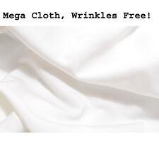 CowboyStudio Premium Mega Cloth White Backdrop 6 x 9 Feet, Wrinkles Free