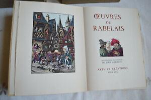 Œuvres de Rabelais Illustrations en couleurs Gradassi 4T arts et création 1955
