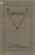 Washington State College WSC 1922-1923 Student Directory Pub By YMCA/ Telephone