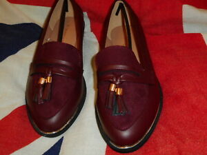 LADIES LOAFERS MOD STYLE OXBLOOD SHOES SIZE 5 TO 7 SCOOTER LAMBRETTA VESPA RUDE