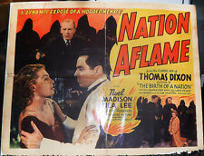 NATION AFLAME! '37 NOEL MADISON, LILA LEE ORIGINAL CLASSIC 1/2-SHT FILM POSTER!