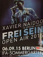 XAVIER NAIDOO 2015 BERLIN  - orig.Concert Poster  --  Konzert Plakat  A1 NEU