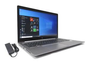 "HP Zbook 15u G5 15.6"" Laptop i7-8650u Quad 1.9/4.2GHz 16GB 512GB SSD AMD GPU 2GB"