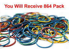 237600x Elastic Hair Ties Small Mini Rubber Bands Holder Multi Color 864x275pk