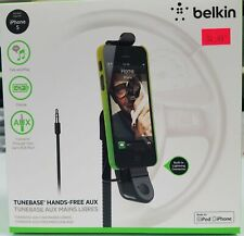Belkin iPhone 5,5s,5c TuneBase Hands-Free AUX & car holder with charger - New