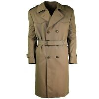 Genuine Italian army Coat Khaki long officer trench coat with lining NEW