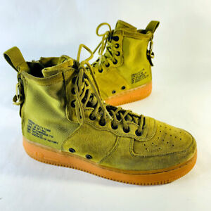 Nike SF AF1 Force Mid Utility Desert Moss Trainer Boots Size 8.5 US 917753-301