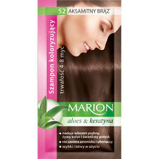 Buy 2 Get 1 MARION Hair Color Shampoo Lasting 4-8 Washes No Ammonia 52. Velvet Brown