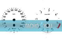 Tachoscheibe für BMW 3er E90 & 5er E60 Diesel 260 kmh km/h M3 M5 526503 Weiß