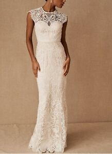 NWT Catherine Deane Merry Gown BHLDN lace bohemian wedding bridal dress 6