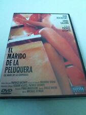 """DVD """"EL MARIDO DE LA PELUQUERA"""" PRECINTADO SEALED PATRICE LECONTE JEAN ROCHEFORT"""