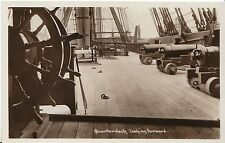 Shipping Postcard - Quarterdeck Looking Forward - H.M.S. Victory   V2052