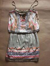 ALLSAINTS SEQUIN DRESS UK 6,Chan Vest Dress,Summer Tribal Evening Dress