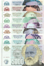 Republic Mujand Banknote set 5-5000 Zilchy 2013 Unc Specimen, Private, Notes