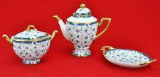 Paris Royal Decors Limoges Miniature 3 pcs. tea set. Teapot, sug (BI#MK/180914)