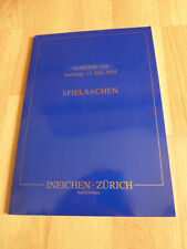 Ineichen  Auktionshaus Zürich  SPIELSACHEN :  Auktion 104  / 1995