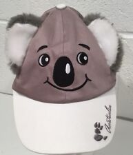Youth Koala Bear Hat Baseball Cap Adjustable Fur Ears Australia Ozwear Souvenir